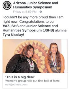 Tyra Nicolay Inducted to Hall of Fame