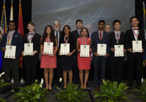 170529-N-PO203-422 SAN DIEGO, Calif. (Apr. 30, 2017) The 55th National Junior Science & Humanities Symposium (JSHS) in San Diego, California. The National JSHS is a tri-service - U.S. Army, Navy and Air Force - program that brings together 230 high school students who qualify for attendance by submitting and presenting original scientific research papers in regional symposia held at universities nationwide. (U.S. Navy photo by John F. Williams/Released)